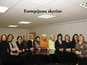 Fortepijono ir antrojo muzikos instrumento (fortepijono) skyrių mokytojai