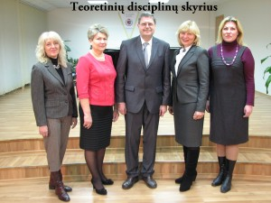 Teorinių disciplinų skyriaus mokytojai